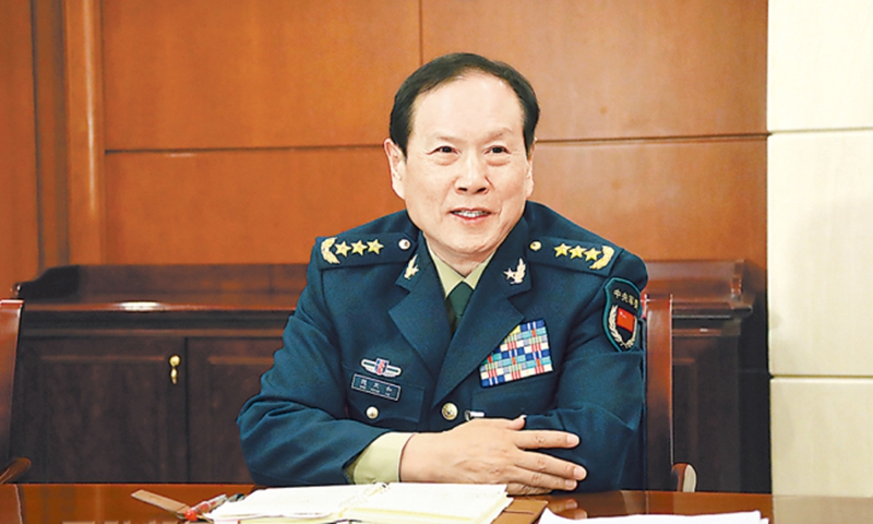Chinese defense minister holds phone talk with US counterpart