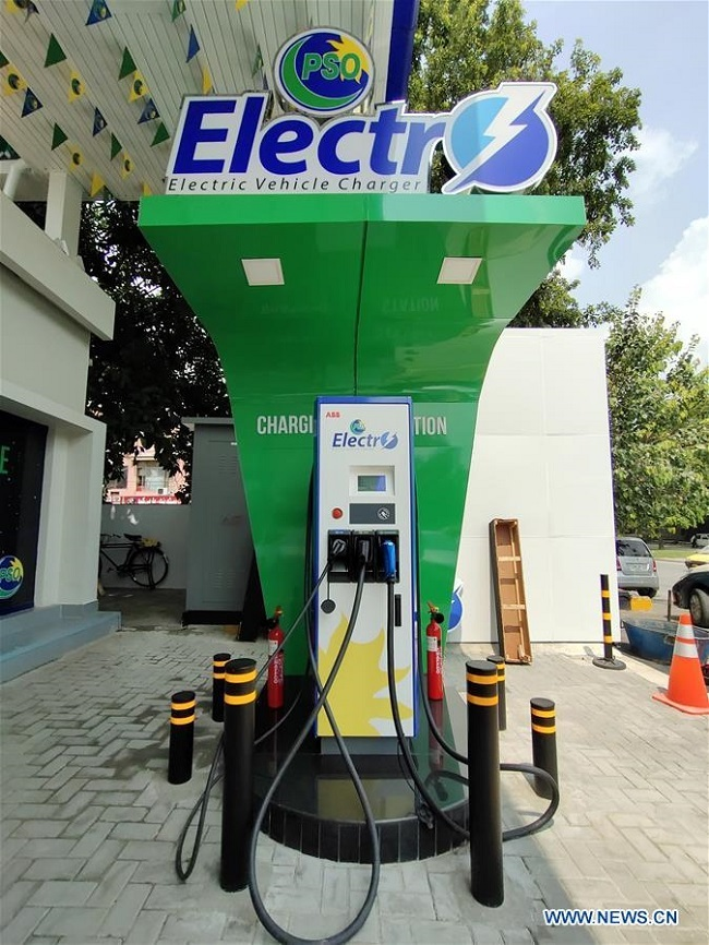 Pakistan State Oil launches first electric vehicle charging station in Islamabad
