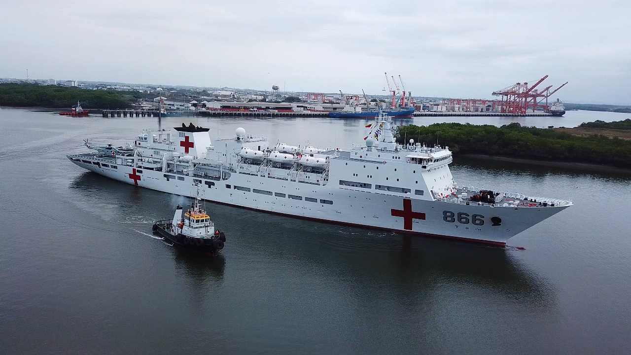 Ceremony held to honor Chinese naval hospital ship