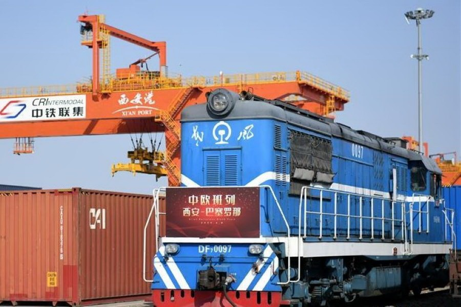 China-Europe freight trains up 68 pct in July