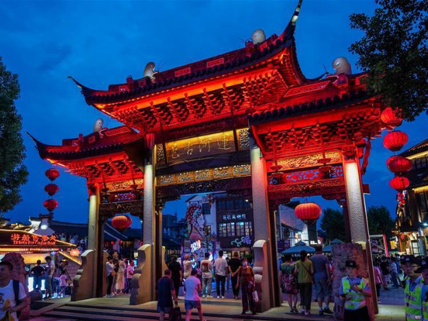 Qingming Bridge historical community in Wuxi promotes night-time tourism