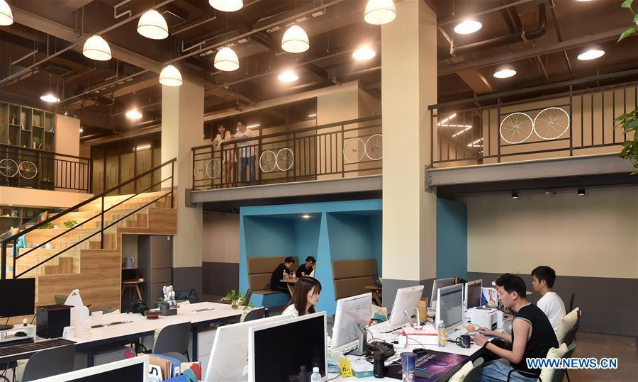 Industrial park converted from old buildings provides office space for companies in Tianjin