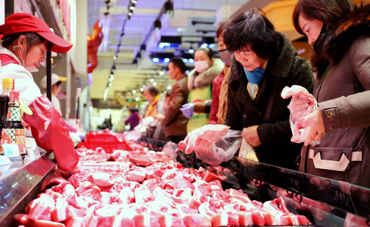 Pork prices in China edge down