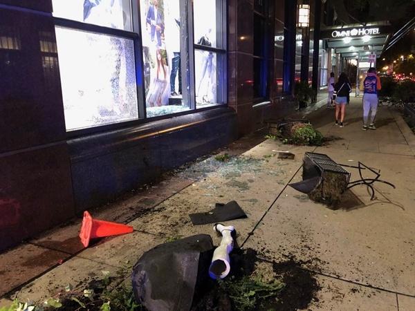 2 shot, over 100 arrested, 13 officers injured in Chicago violence