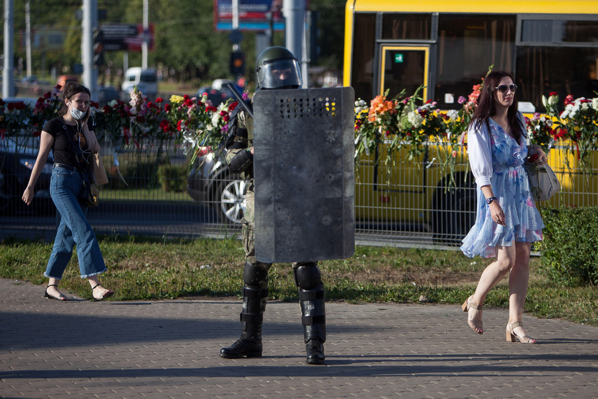 Belarus eases security in Minsk after poll protests