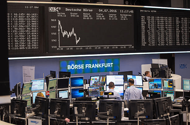German shares open with small losses at start of trading Wednesday