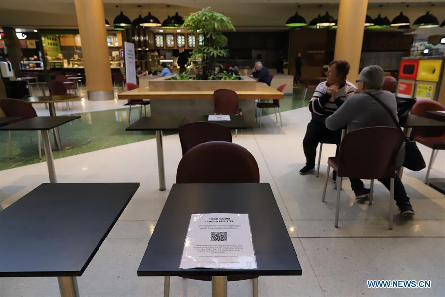 Food courts provide dine-in services for customers under corresponding measures in Canberra