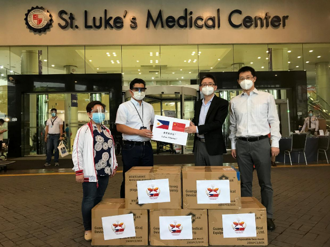 Chinese Embassy in Philippines donates to local medical frontliners