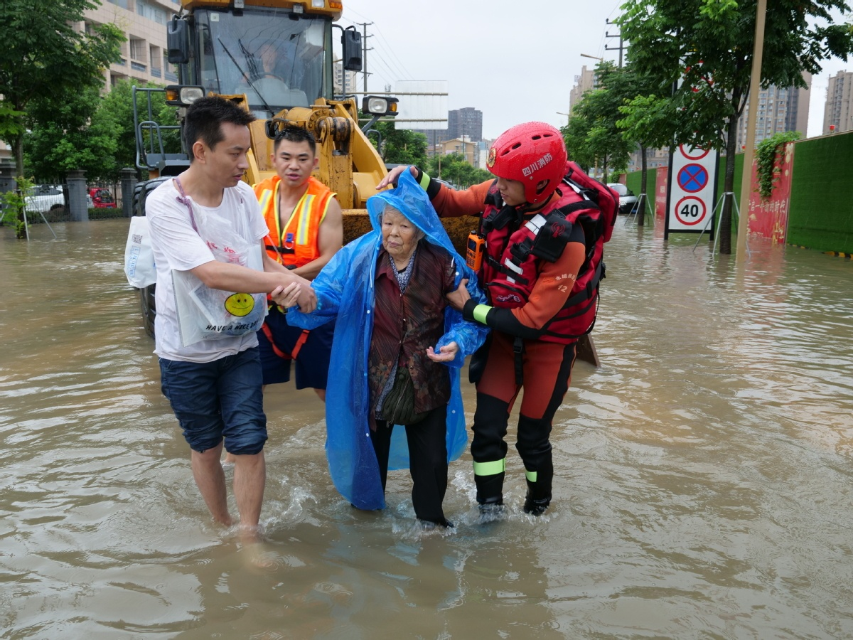 Red Cross Society of China sends supplies to three flood-hit provinces
