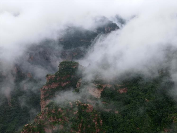 Scenery of Zijin Mountain scenic spot in Xingtai, Hebei