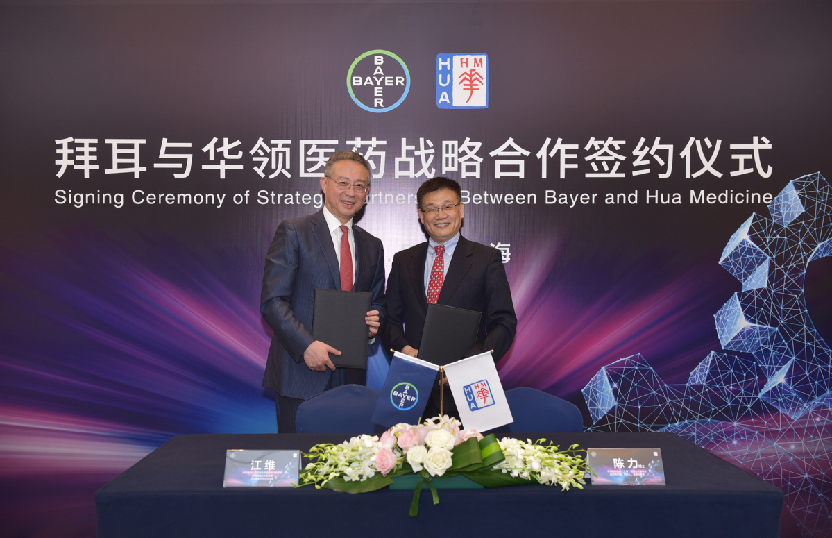 Bayer, Hua Medicine sign diabetes treatment agreement, partnership