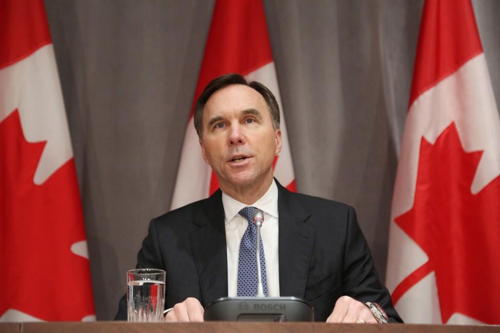Canada finance minister announces his resignation