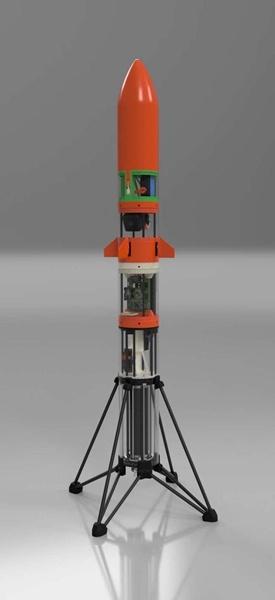 Aerospace student sends homemade rocket skywards