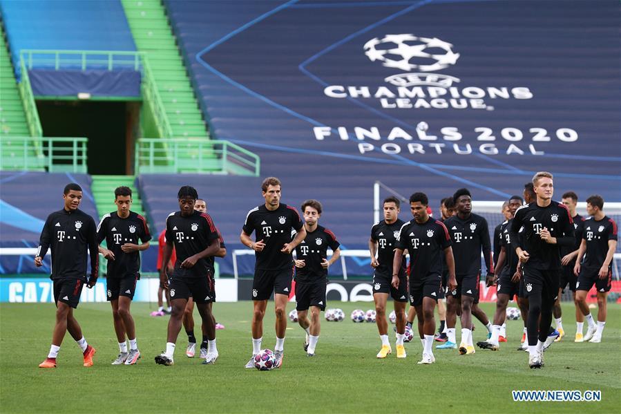 Bayern Munich team train ahead of UEFA Champions League semifinal
