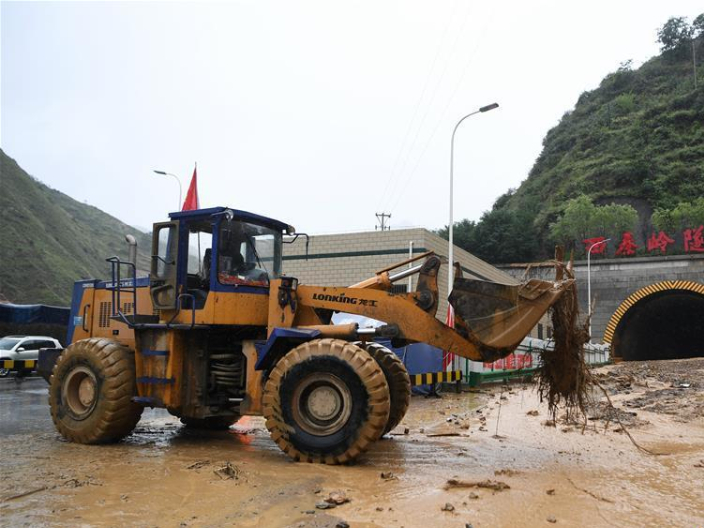 River in spate as heavy rains lash NW China province