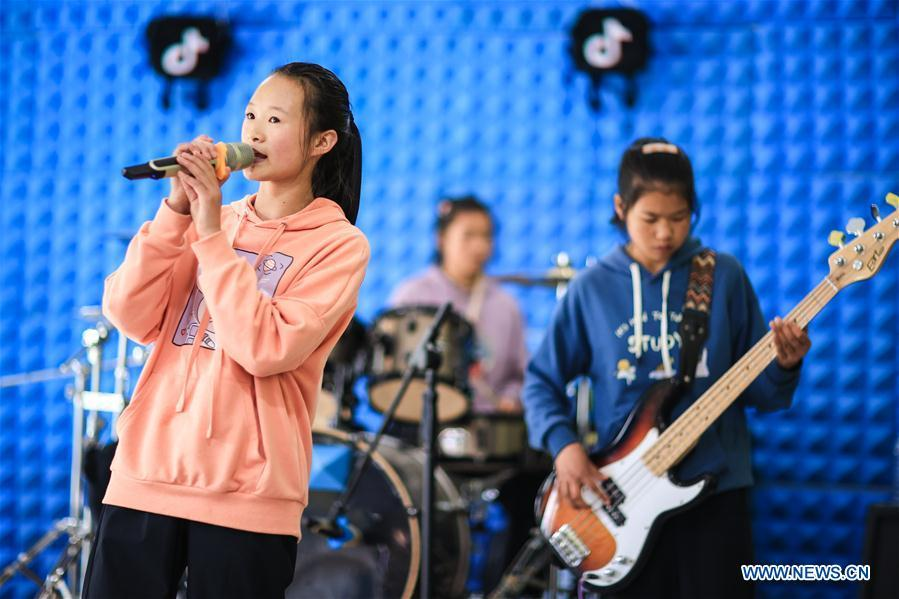 Live concert by two student bands held in Guizhou