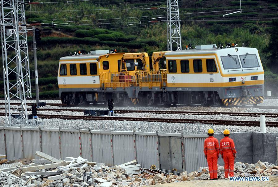 Fujian section of Quzhou-Ningde railway starts test runs