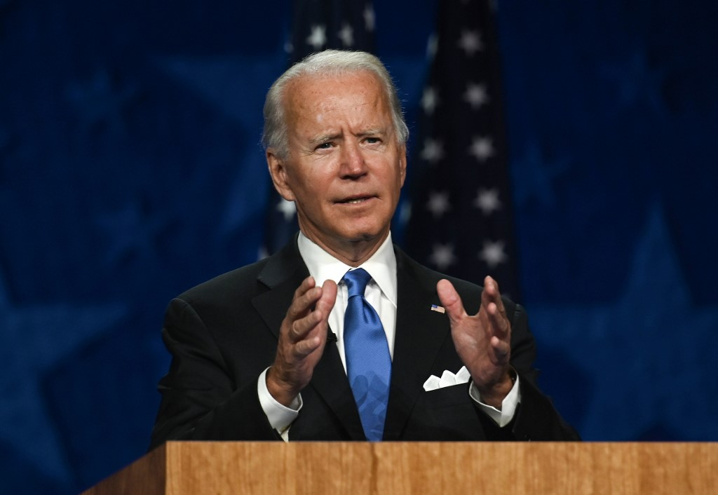Biden accepts Dem nomination, vows to end 'season of darkness'