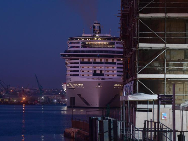 Cruise ship sails into Malta again after five-month hiatus