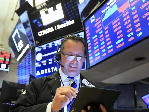 US stocks open mostly lower amid concerns over economy