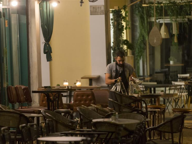 Daily life in downtown Athens amid COVID-19 pandemic