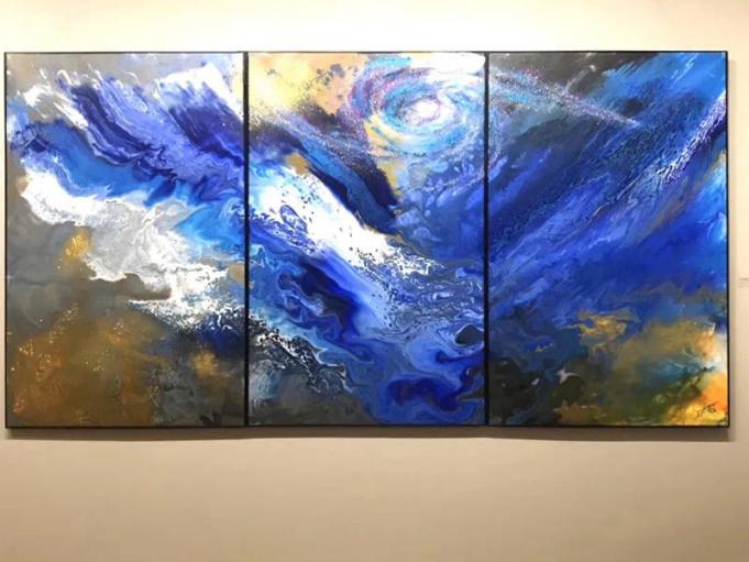 Museum art exhibit explores connotations of color blue