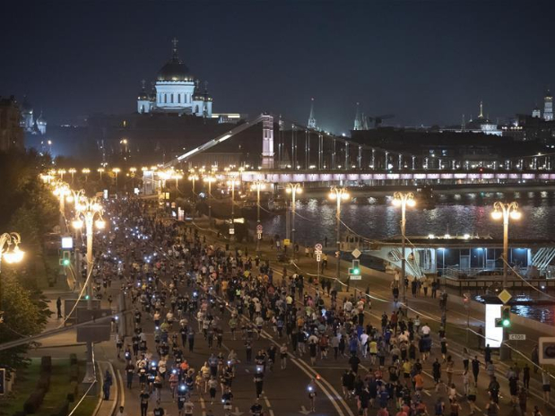 10km Night Run event held in Moscow
