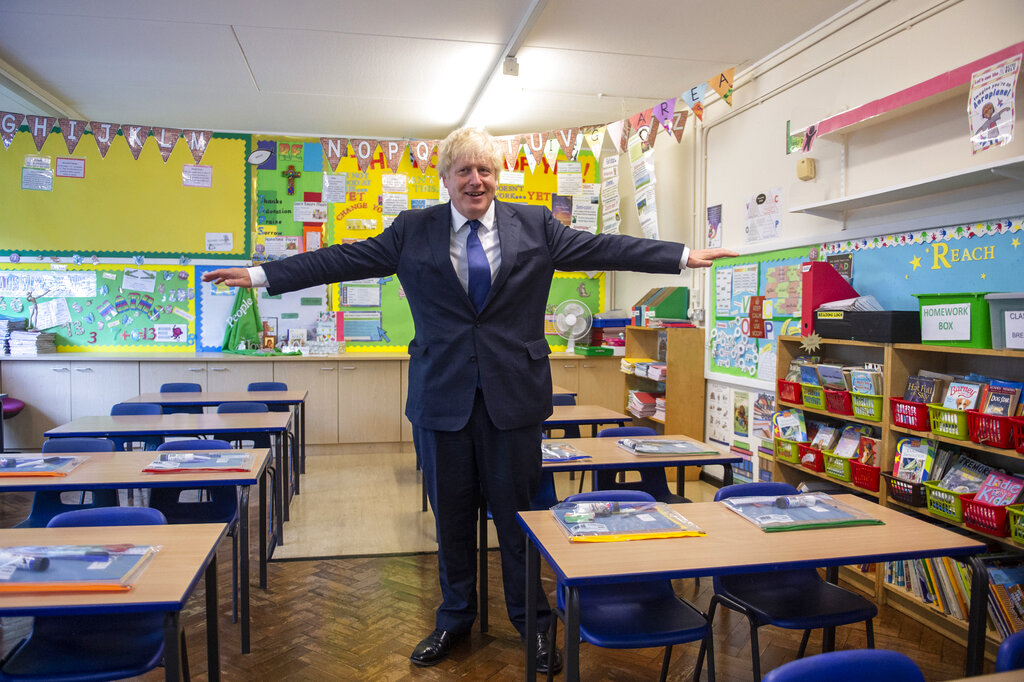 UK leader urges parents to let their kids go back to school