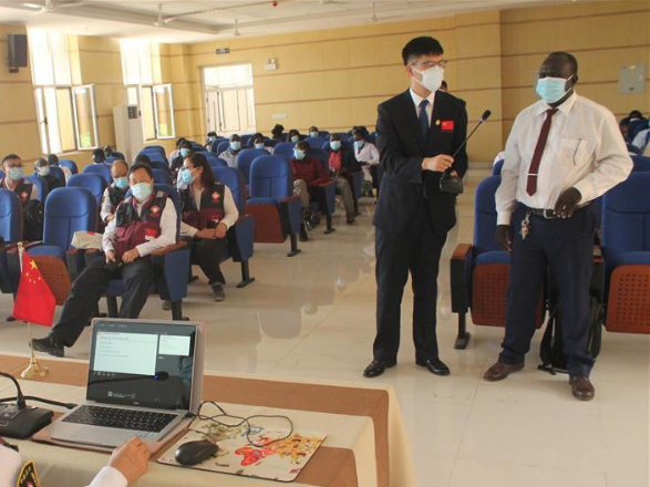 Chinese medical experts train South Sudanese medics on COVID-19 response