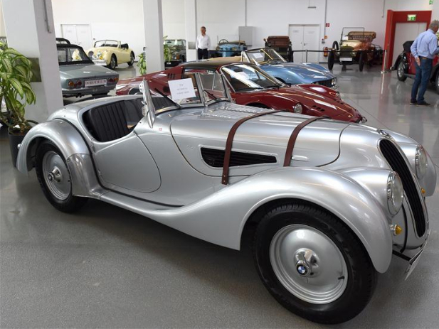 Vintage cars displayed before auction of Austrian auctioneer Dorotheum in Vienna