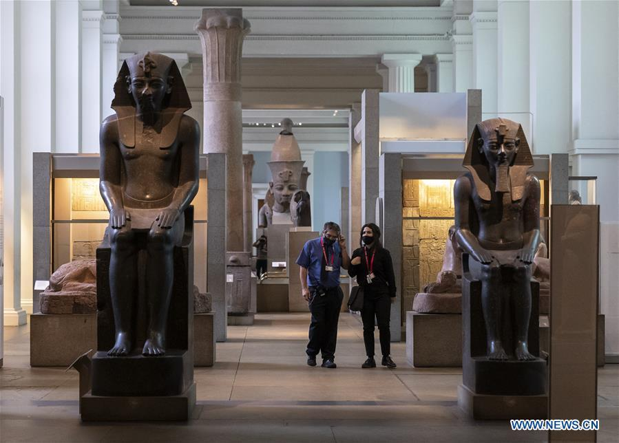 British Museum holds press preview ahead of reopening on Aug. 27