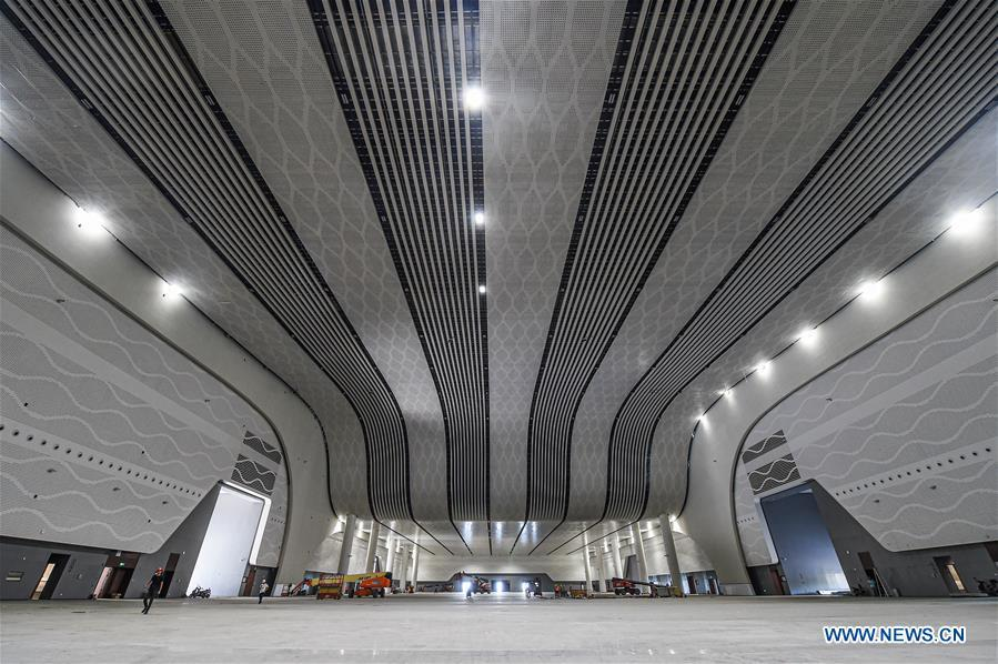 Hainan Int'l Convention and Exhibition Center (2nd-phase) project under construction