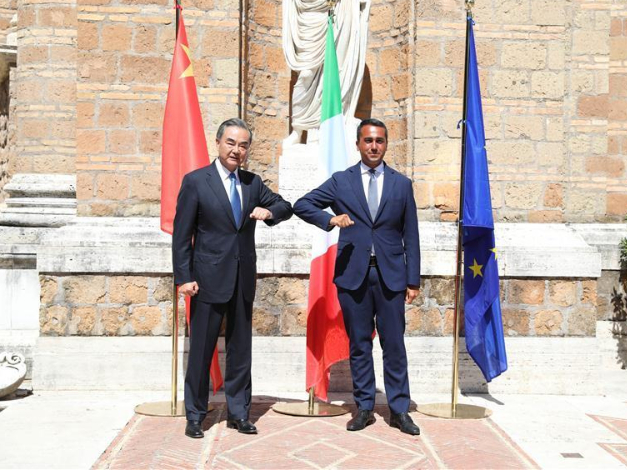 China, Italy must push for new progress in ties: Chinese FM