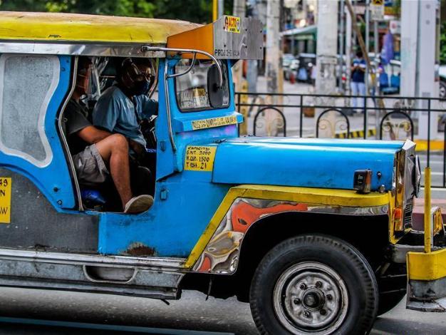 Jeepneys seen in Manila, the Philippines