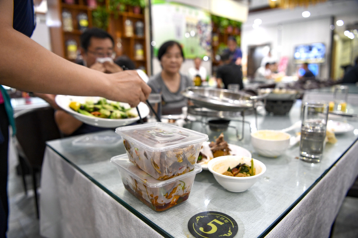 Most Chinese tend to take home leftovers when dining out: survey