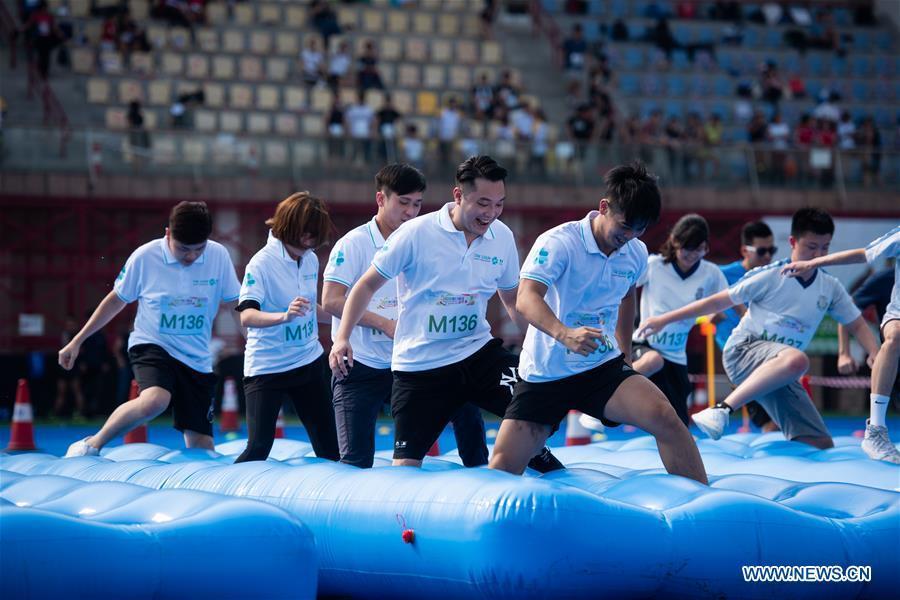 Competitors participate in festival competition