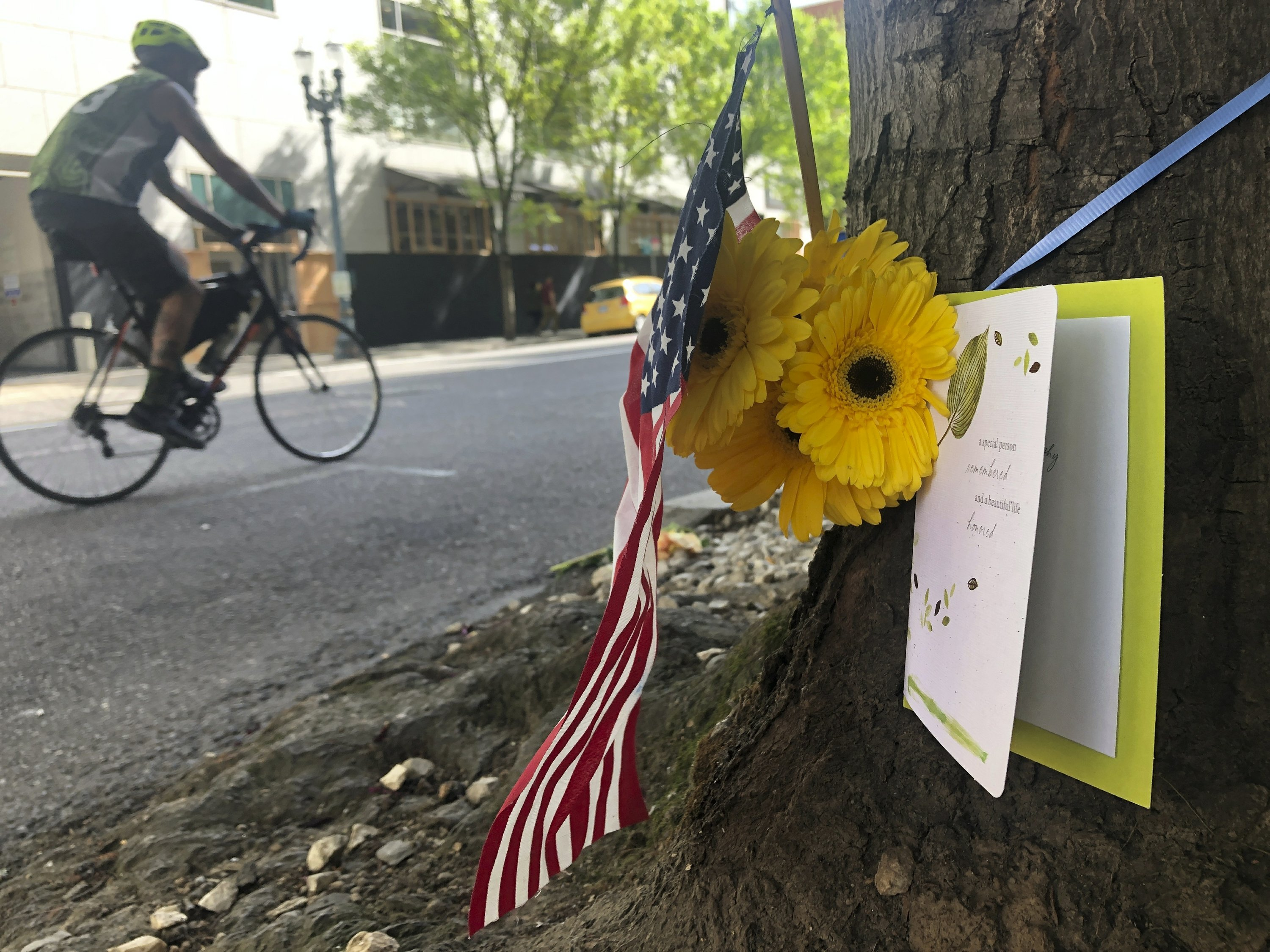 Trump, friends mourn right-wing activist killed in Portland