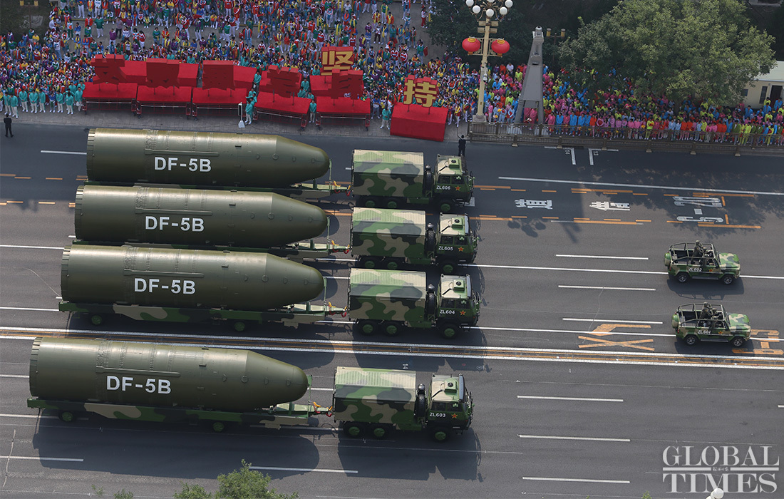 US hegemony intimidated by China's nuclear power