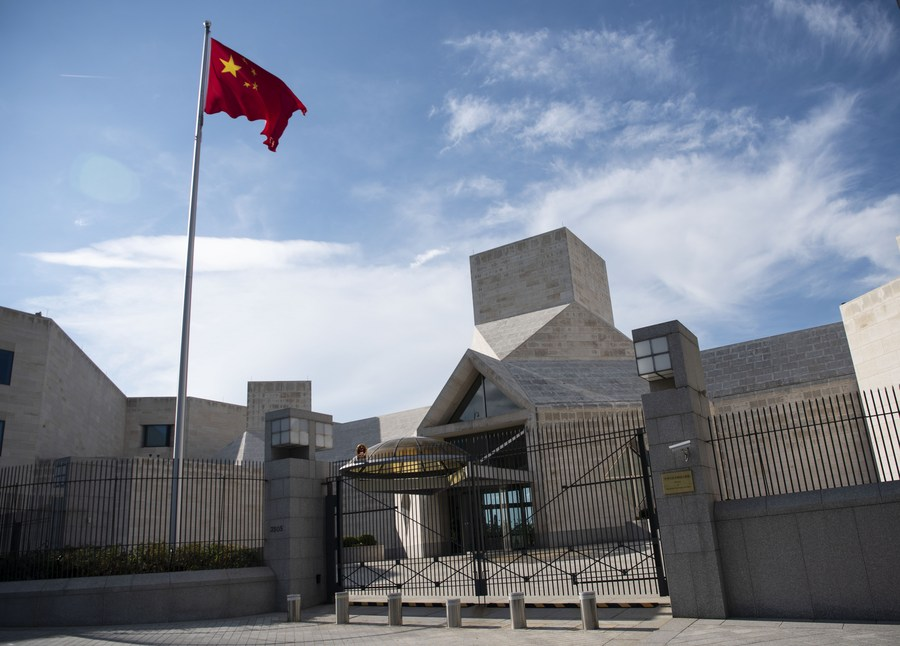 Chinese embassy urges US to revoke unjustified restriction on Chinese diplomatic, consular personnel
