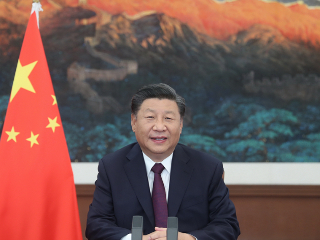 Xi stresses promoting prosperity of service trade, early recovery of global economy