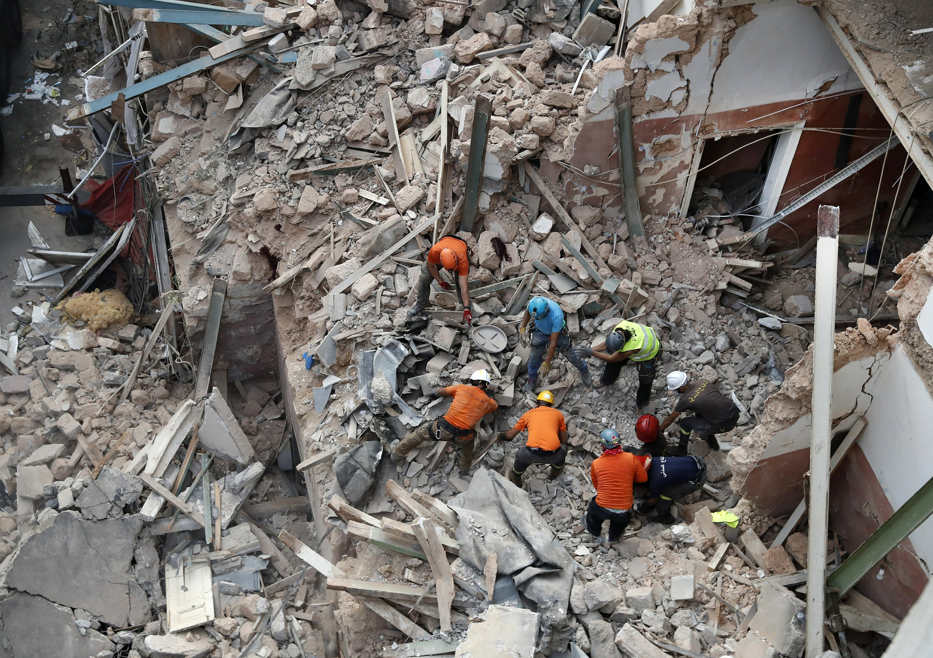 Rescue workers in Beirut hope to find survivor in rubble