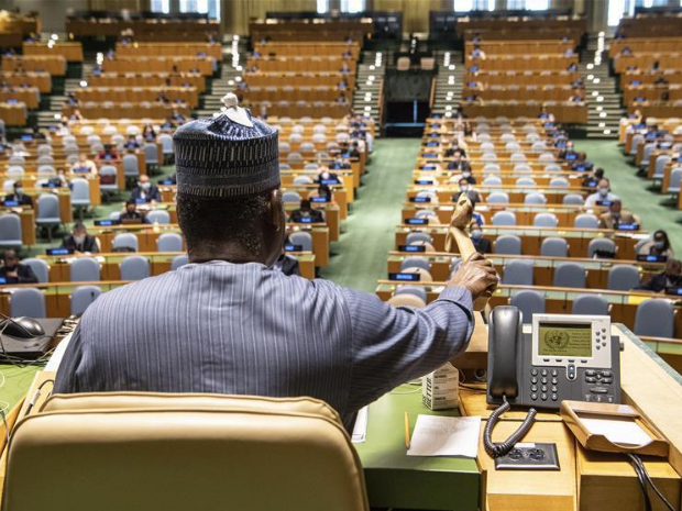 UNGA president urges world to galvanize multilateral action as COVID-19 rages