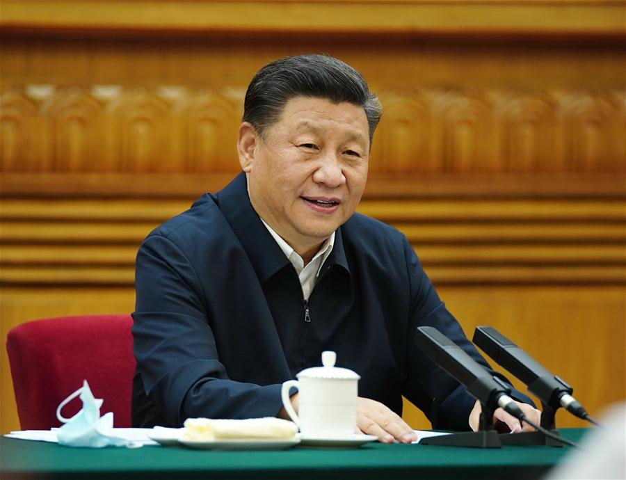 Chinese President Xi Jinping chairs a symposium with entrepreneurs in Beijing, capital of China, July 21, 2020. Photo Xinhua.jpg