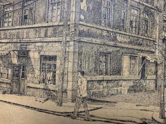Pen drawings save architectural memories
