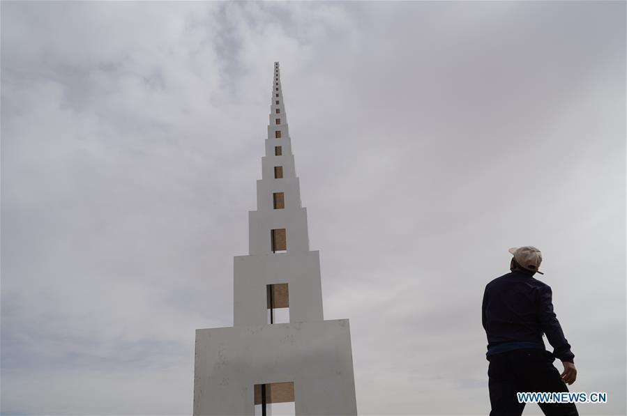 Third Desert Sculpture Int'l Creation Camp kicks off in Gansu