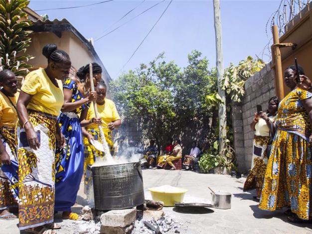 People practise Icilanga Mulilo in Lusaka, Zambia