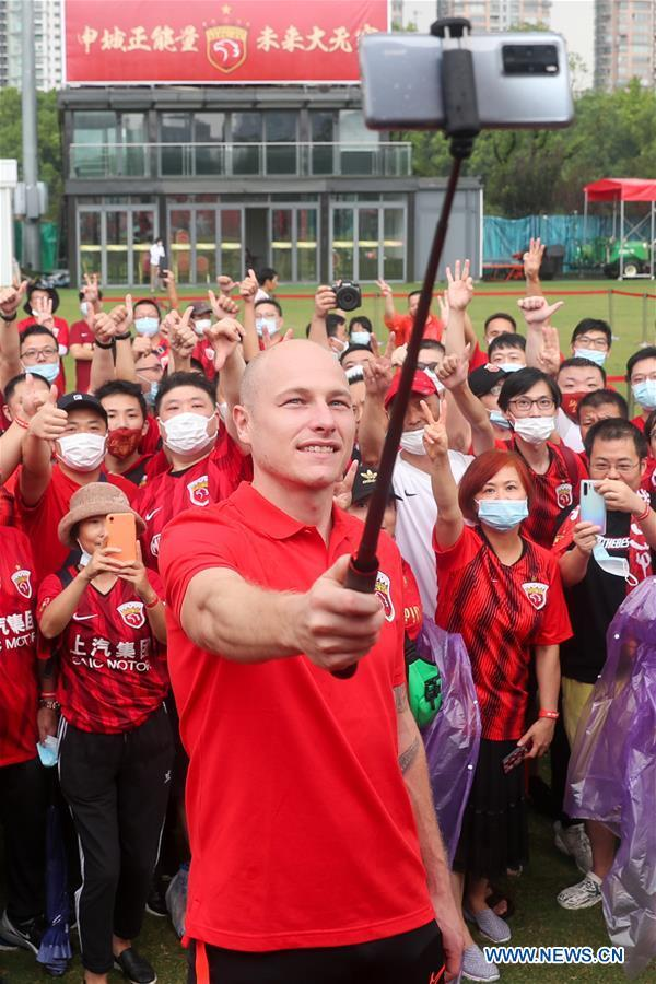 In pics: presentation of Shanghai SIPG football club's new player Aaron Mooy