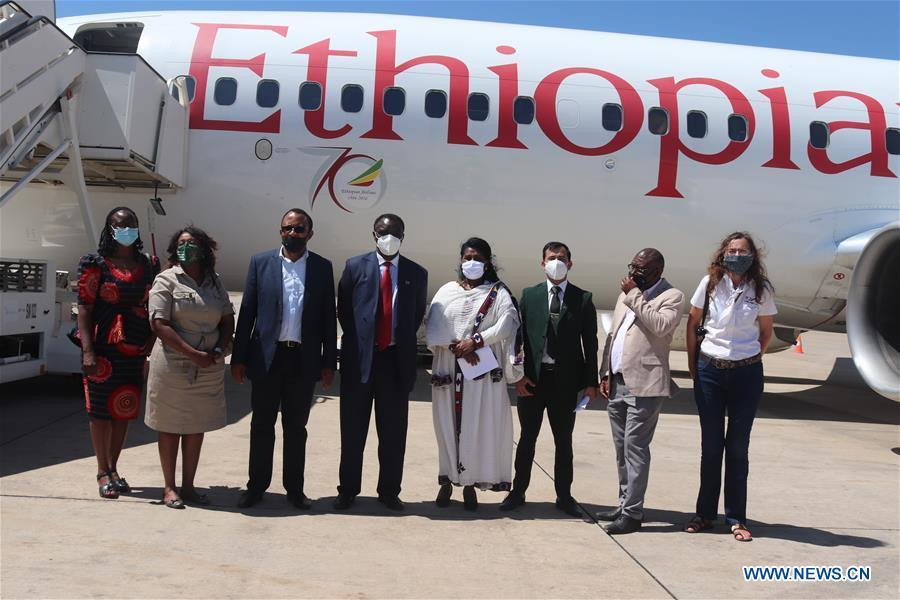 Namibia flagship airport welcomes 1st int'l passenger flight after 6-month stoppage