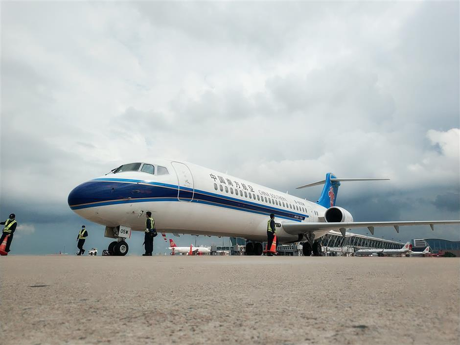 Touchdown as China Southern's ARJ21 begins Guangdongroute