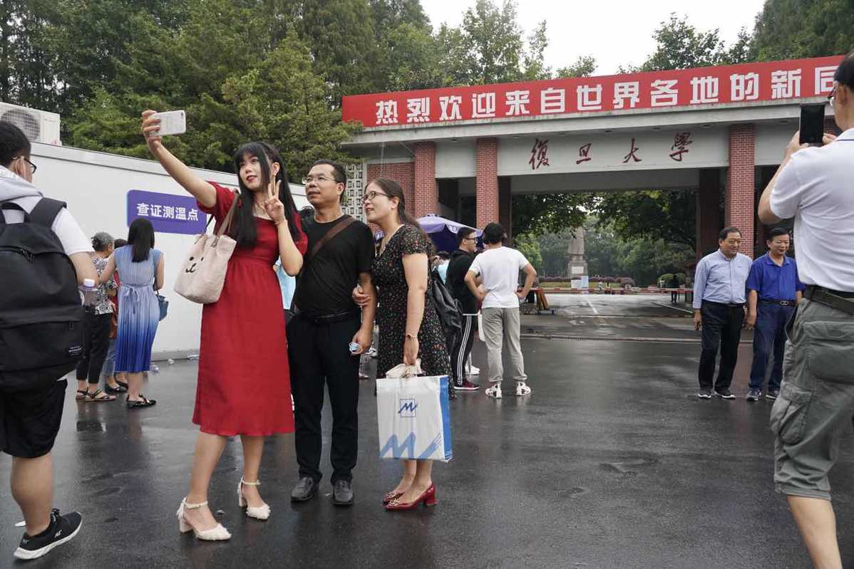 Shanghai's Fudan University welcomes new students